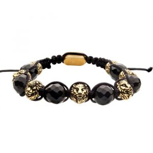 black agate beaded bracelet