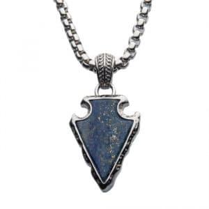 arrowhead pendant with lapis